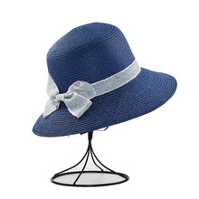 XCZJ Summer Beach Hat Women Panama Straw Caps Wide Brim Visors Casual Hats Lady Brand Hand Made Sun Flat Gorras H097