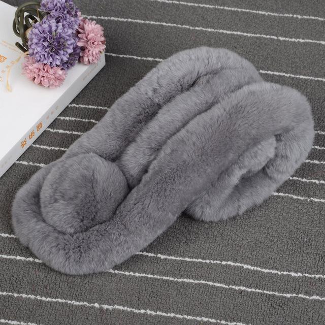 Castor conejo zdfurs * nuevo invierno bufanda de lana de cuello de señora caliente del invierno bufanda de piel de nutria pelo de conejo collar set al por mayor