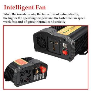 Image 5 - 3000W 전원 인버터 12 V AC 220 볼트 LCD 디지털 최대 6000 와트 수정 사인파 자동차 충전 변환기 변압기 2 USB