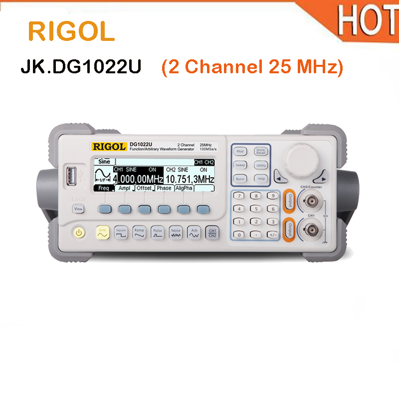 hot RIGOL DG1022U Signal Generator Function/Arbitrary Waveform Function Generator 25MHZ 2 output channels 5 standard waveforms elc12 e aq i standard elc 12 series expansion modules 2 channels output current signal