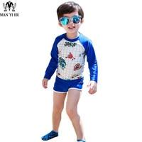 2017 MYE Spider Twee Stukken Baby Jongens Badmode Set Surfen Kids T-shirts + Shorts Trunks Zwemmen Kinderen Badpakken
