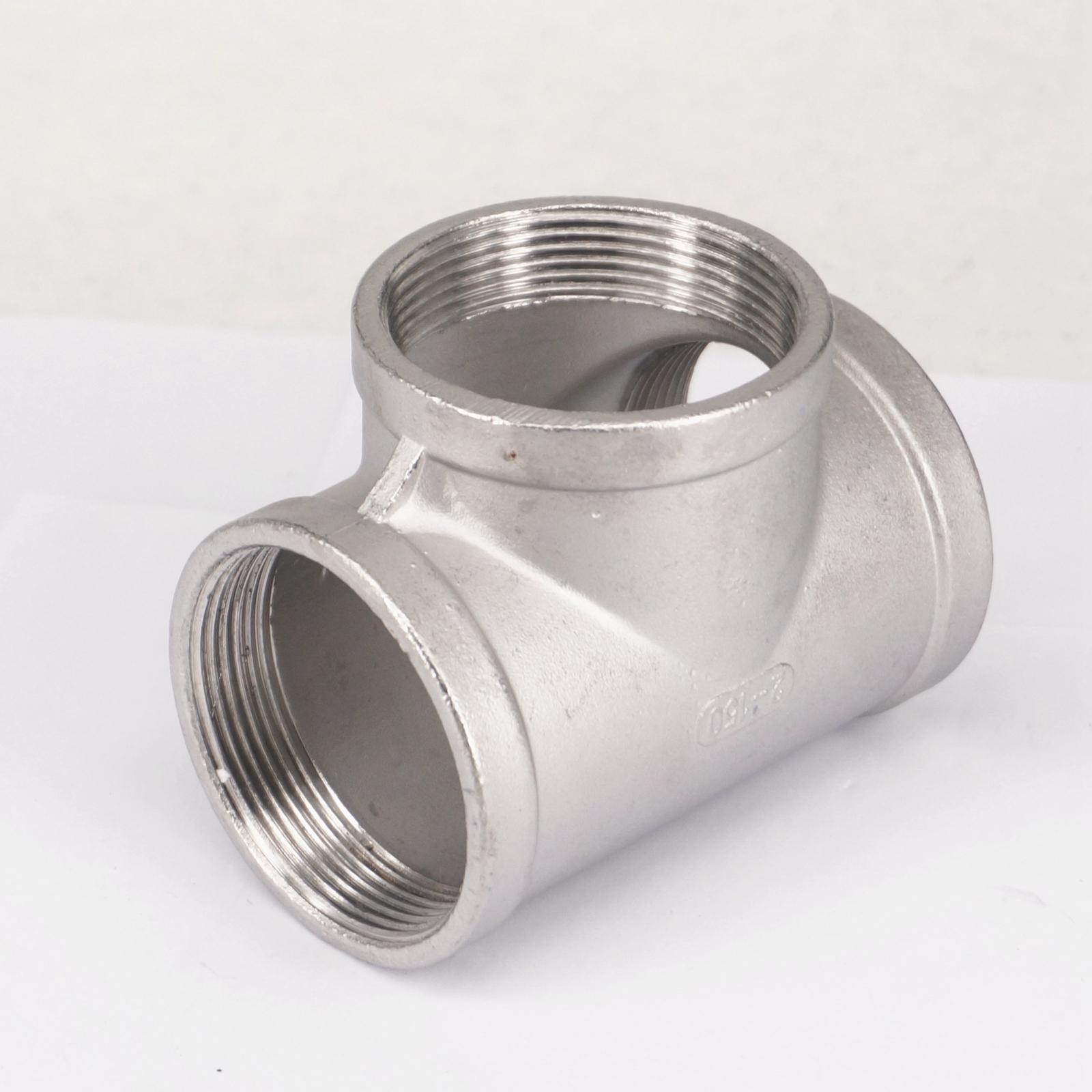 2 BSP Euqal Female Tee Thread 3 Way 304 Stainless Steel Pipe Fitting Connector Coupling for water air gas 2 1 2 male x 1 1 2 female thread reducer bushing m f pipe fitting ss 304 bsp