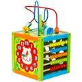 Детские Монтессори Детские Игрушки Leacing Бисер Часы Форма Abacus многофункциональный Дошкольного Головоломки Brinquedos Juguets