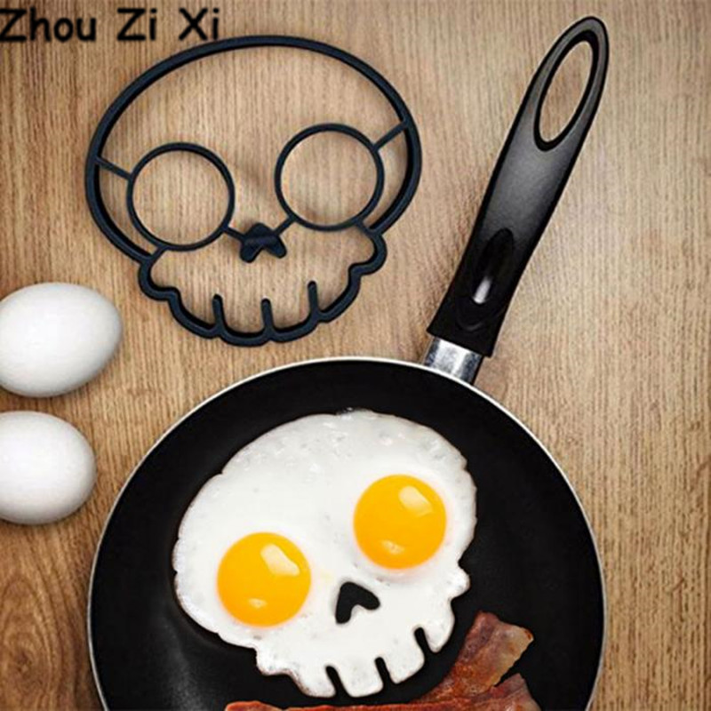 Zhou Zi Xi skeleton head shaped creative silicone Fried egg mold egg tools
