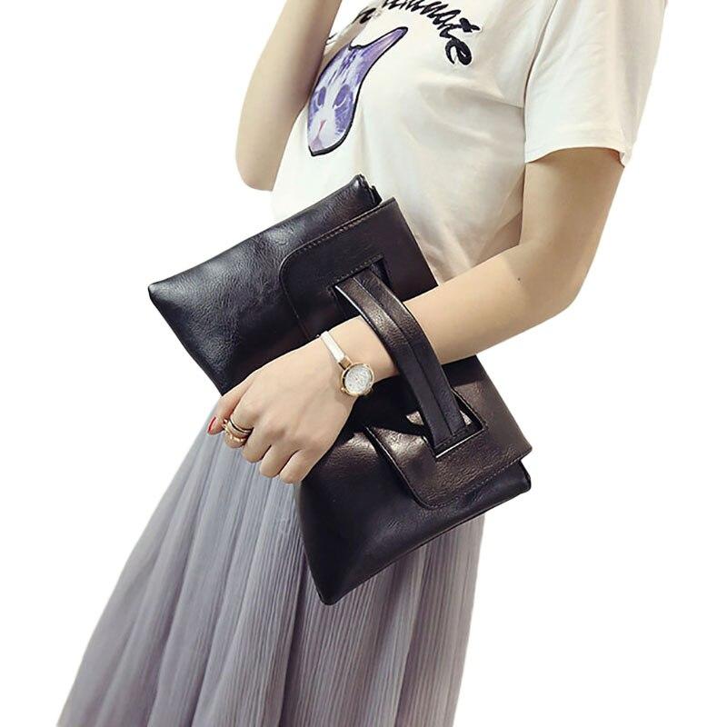 Pacchetto Pochette Frizioni grigio Signore Nero Postino Femminile Donne cachi In colore Messenger Borsa Delle Il Crossbody Rosa Busta Pelle Tracolla Bag qSXOTx8w