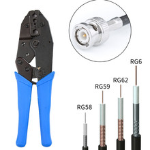 Koncentryczny BNC kabel zaciskane szczypce do zaciskania szczypce do 6.48/5.41/2.50/1.72/8.23mm dla RG58, RG59, RG62, RG6