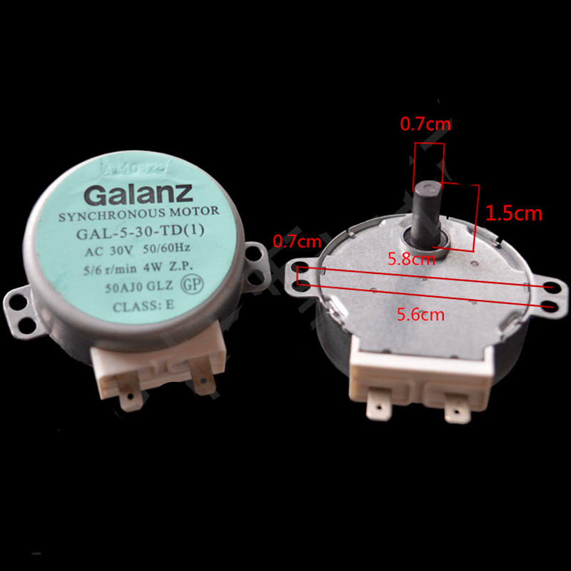 1pcs for GALANZ turntable motor GAL-5-30-TD GAL-5-30-TD(1) AC 30V 50 / 60Hz 5/6 / min Microwave Oven Parts цена