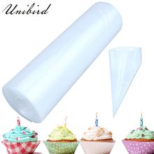 Unibird 50Pcs Roll Disposable Pastry Bags Cake Icing Piping Bag Cream Decorating Tools Confectionery Mould Home DIY Cupcake Tool