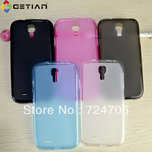 10pc/lot Translucent case for Samsung Galaxy S4 i9500 Case Soft Rubber Cover