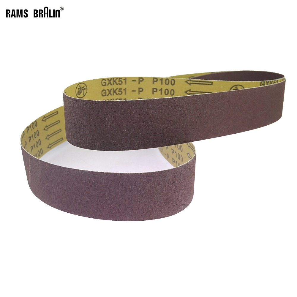 50 Grit 2 Pack Sanding Belts 6 X 48 Zirconia Cloth Sander Belts