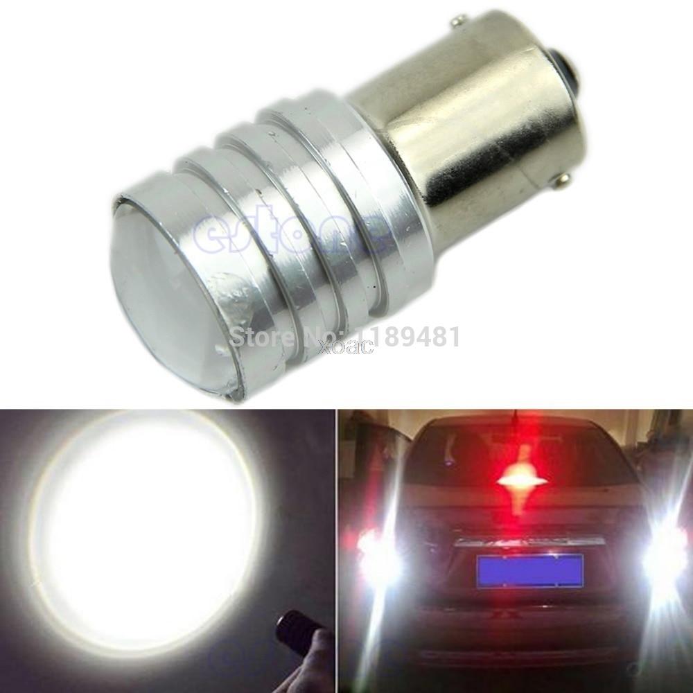 New White 1156 BA15S P21W High Power CREE Q5 LED Car Bulb Reverse Light 12V M12 dropship