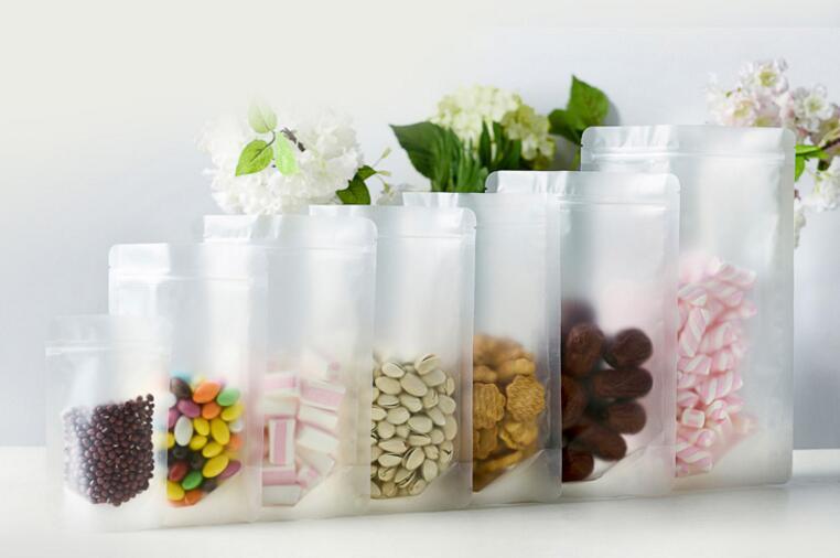 Acheter 1 5Alice, 50 pcs/lot Mat transparent auto sac de nourriture, En Plastique emballage de verrouillage à glissière pochette/sacs pour des bonbons/Biscuits pack de bag size fiable fournisseurs