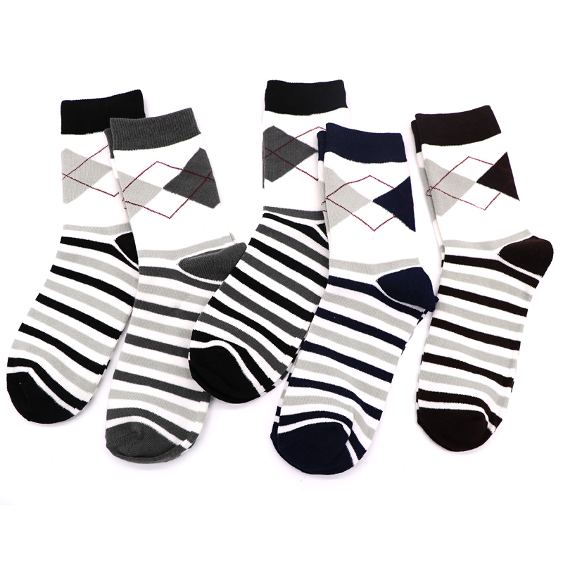 3pair Long Mens Socks Gradient Color Colorful Novelty 3d Funny Socks For Man Chaussettes Homme Business Dress Socks Art Meias Buy One Give One Underwear & Sleepwears
