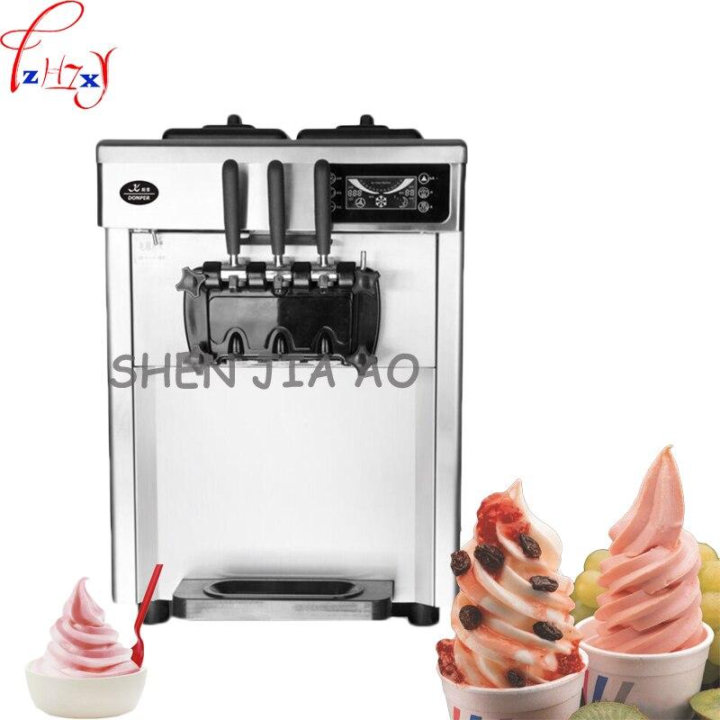 CQ 8219 Ticari Yumuşak dondurma makinesi 3 tatlar dondurma yapma makinesi 2300 W 22L/H Profesyonel Paslanmaz çelik Yoğurt makinesi 1 pc|Dondurma makinesi|   -