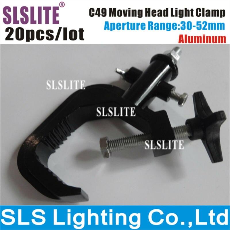 20PCS/LOT SLS-C49 01A swivel hook clamp,light hook Light Hanging Clamp/G clamp/O clamp Aluminum Adjustable Clamp