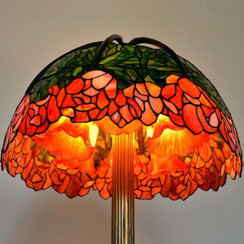 FUMAT Art Kaca Lampu Meja Lampu Berkualitas Tinggi Tembaga Murni Kaca - Pencahayaan dalam ruangan - Foto 2