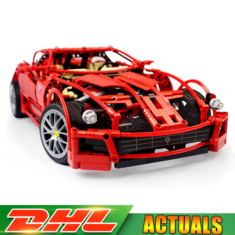 Decool 3333 1322pcs Technic TM Large 1:10 F1 Racing 599 Model Building Bricks Blocks Toys Compatible LegoINGlys 8145 in stock dhl decool 3333 building blocks toy 1 10 car model supercar red assemblage racing brain game gift clone 8145