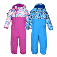 2019 Winter Baby Boy Bodysuits Patchwork Sports Kids Girls Outfit Fleece Hooded Snow Suits Windproof Toddler Clothes Jumpsuit