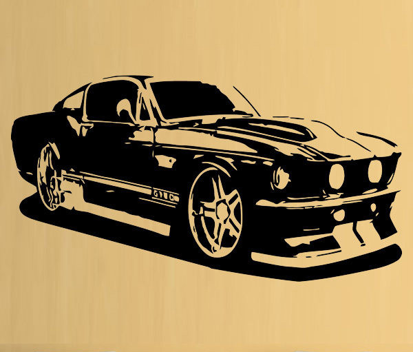 room deco furniture. D289 Mustang Ford Car Cool Boys Bedroom Wall Art Stickers Decals Vinyl Home Room Deco Furniture H