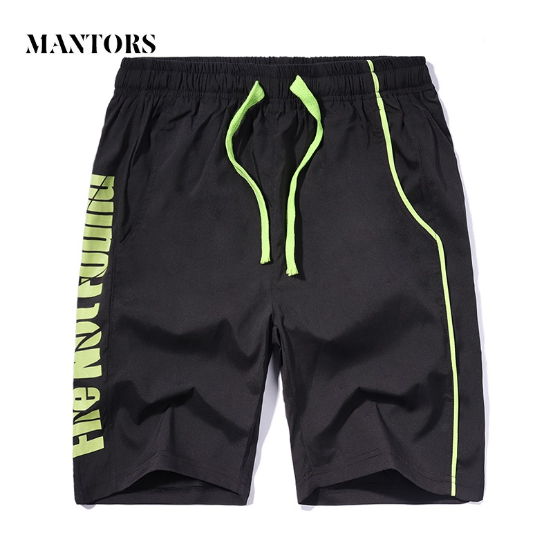 Men Summer Shorts Casual Letter Printed 2019 New Elastic Drawstring Male Loose Boardshorts Quick-drying Men's Sportswear Shorts