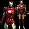Железный Человек мышцы Костюм Ironman супергероя onesies для взрослых костюмы кино для человека хэллоуин косплей Подарок На День Рождения D-1914