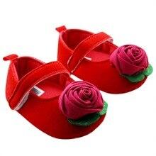 0-18Months Neue Kleinkind Baby Mädchen Prinzessin rutschfeste Blume Party Weiche Sohle Krippe Schuhe 2016 LS2