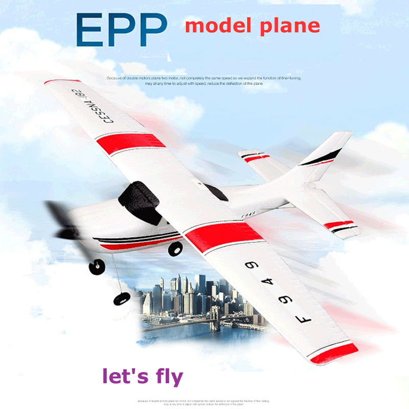 Wltoys F949 CESSNA-182 3 Channel 2.4G Control Airplane RC Airplane EPP Model Plane RTF 3 Coreless Motor Outdoor Drone Kids FSWB image