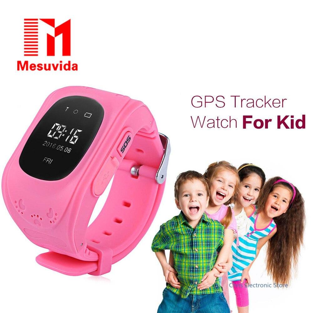 Mesuvida Q50 Smart Children Anti Lost GPS Tracker Watch For Kids SOS GSM Mobile Phone App