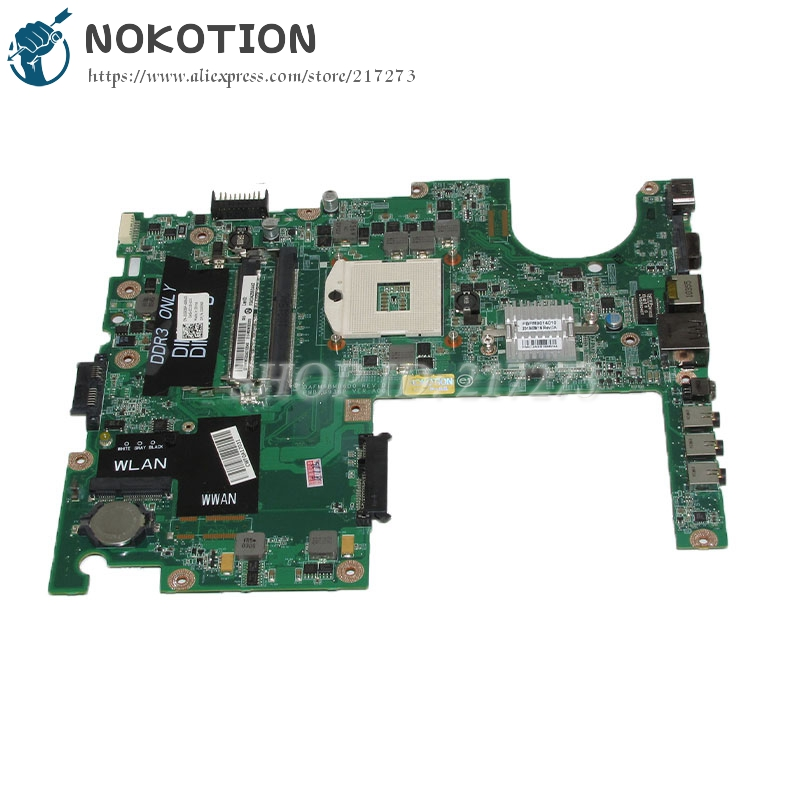 NOKOTION DAFM9BMB6D0 CN-0G936P 0G936P Laptop Motherboard For Dell Studio 1558 Main Board HM57 DDR3 nokotion laptop motherboard for dell vostro 3500 cn 0w79x4 0w79x4 w79x4 main board hm57 ddr3 geforce gt310m discrete graphics