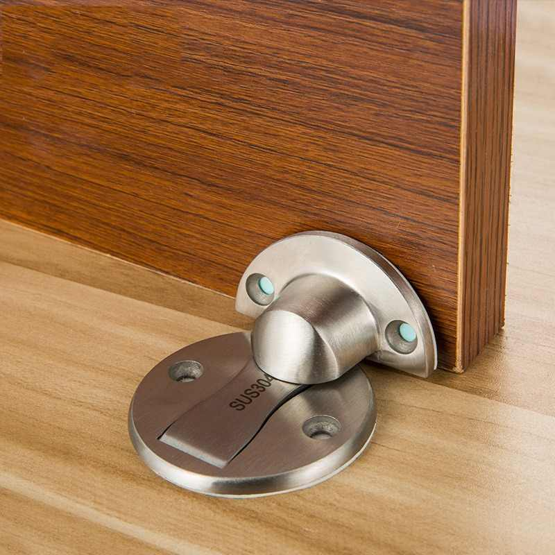 Magnet Door Stops Stainless Steel Door Stopper Magnetic Door Holder Toilet Glass Door Hidden Doorstop Furniture Hardware