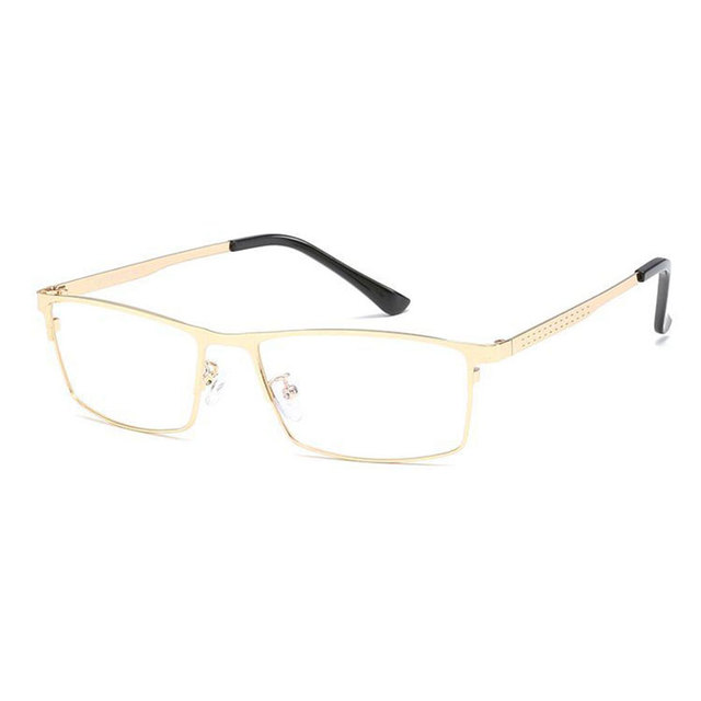 Lunettes à bord intégral en alliage optique   Monture rectangulaire, lunettes de Prescription, lunettes pour hommes, lunettes de qualité