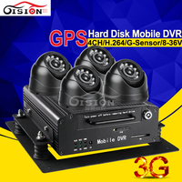 4CH Hard Disk Vehicle Mobile Dvr Online 3G Real Time Video Recorder With GPS Tracking HDD