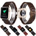 O envio gratuito de 100% de madeira de ébano natural banda para apple watch com adaptador de 42mm de madeira de luxo assista bracelete banda iwatch