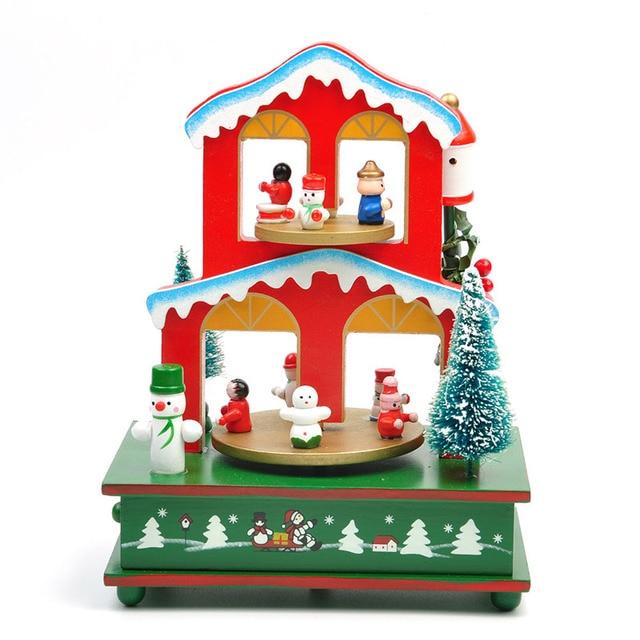Spieluhr Weihnachten.Us 20 8 48 Off Cute Cartoon Bunten Rotierenden Jingle Bells Spieluhr Weihnachten Tabelle Dekoration Neujahr Party Weihnachten Kinder Geschenk In
