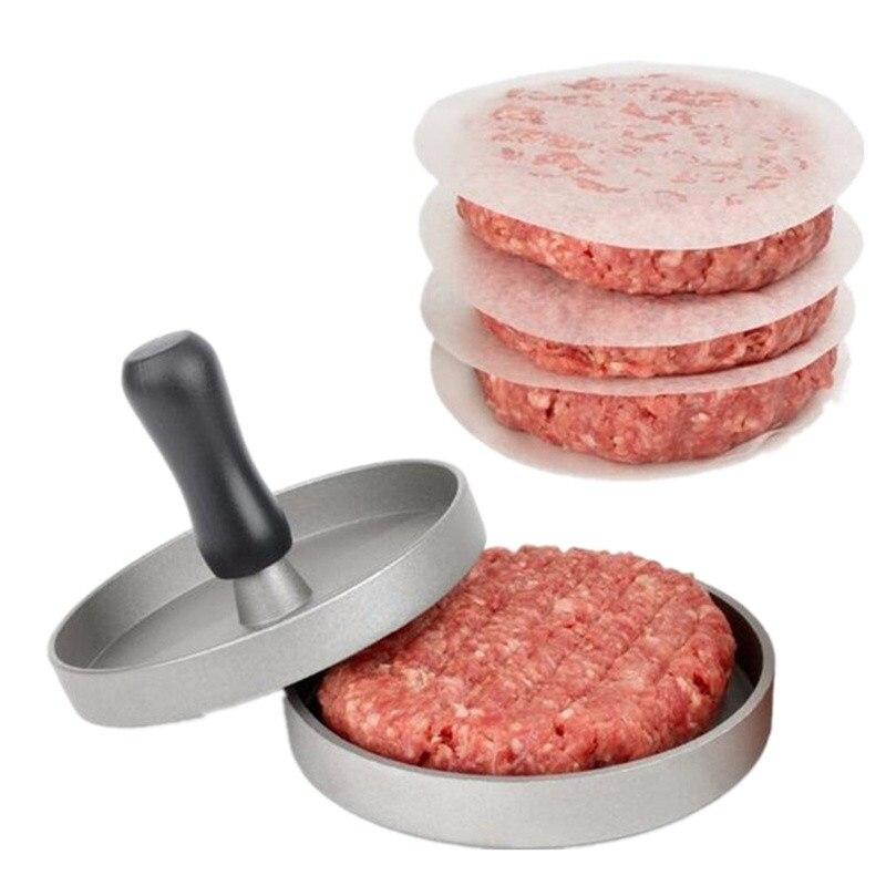 Delidge-1-Set-Round-Shape-Hamburger-Press-Aluminum-Alloy-11-cm-Hamburger-Meat-Beef-Grill-Burger