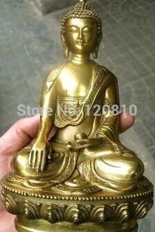 Copper Buddha Bronze Statue In The Lotus Estrade