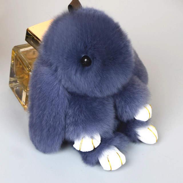online shop new rabbit keychain cute fluffy bunny keychain rex