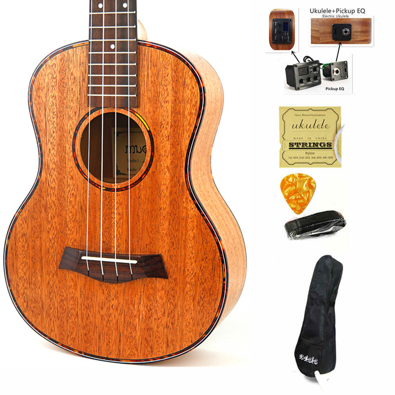 Haute qualité ukulélé Concert 4 cordes Instruments de musique voyage guitare acoustique chitarra électrique ukelele palissandre touche