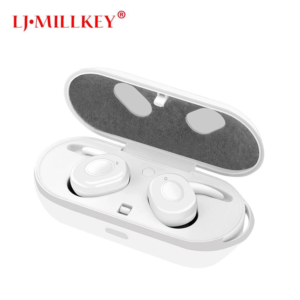 где купить Newest Twins True Wireless Earbuds Mini Bluetooth In-Ear Stereo TWS Wireless Earphones With Charging Case TWS LJ-MILLKEY YZ111 по лучшей цене
