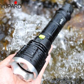 YUPARD XM-L T6 LED żółty lekka latarka latarka nurkowanie lampa diver latarnia podwodna wodoodporna 26650 18650 baterii tanie i dobre opinie Latarki Pojedynczego pliku diving Black Żarówki led 1000 LITHIUM ION Powiększ 4731 Akumulator Regulowany Odporny na wstrząsy