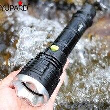 YUPARD XM L T6 LED sarı ışıklı fener El Feneri Dalış lambası dalgıç balıkçılık fener Sualtı su geçirmez 26650 18650 pil