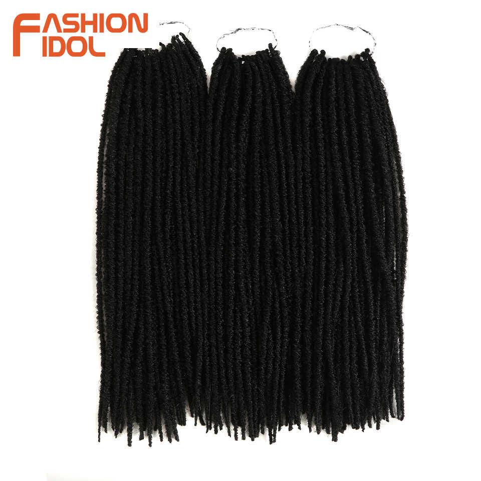 Мода IDOL Faux locs Crotchet наращивание волос 30 прядей/упаковка крючком косы коричневый Омбре волос для Африканский Американский черный женщин