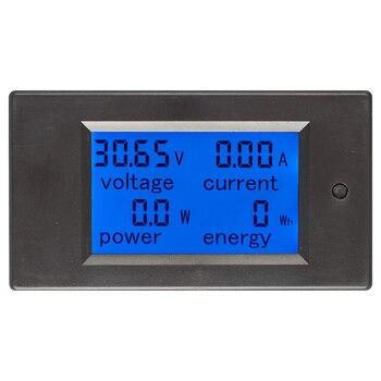 Pro DC 6.5-100V 0-20A Lcd Ekran Dijital Akım Gerilim Güç Enerji ölçer Multimetre Ampermetre Voltmetre