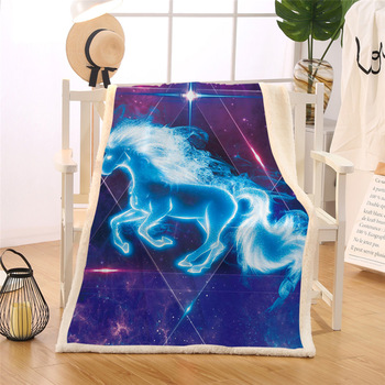 Galaxy Blanket Unicorn Throw Blanket