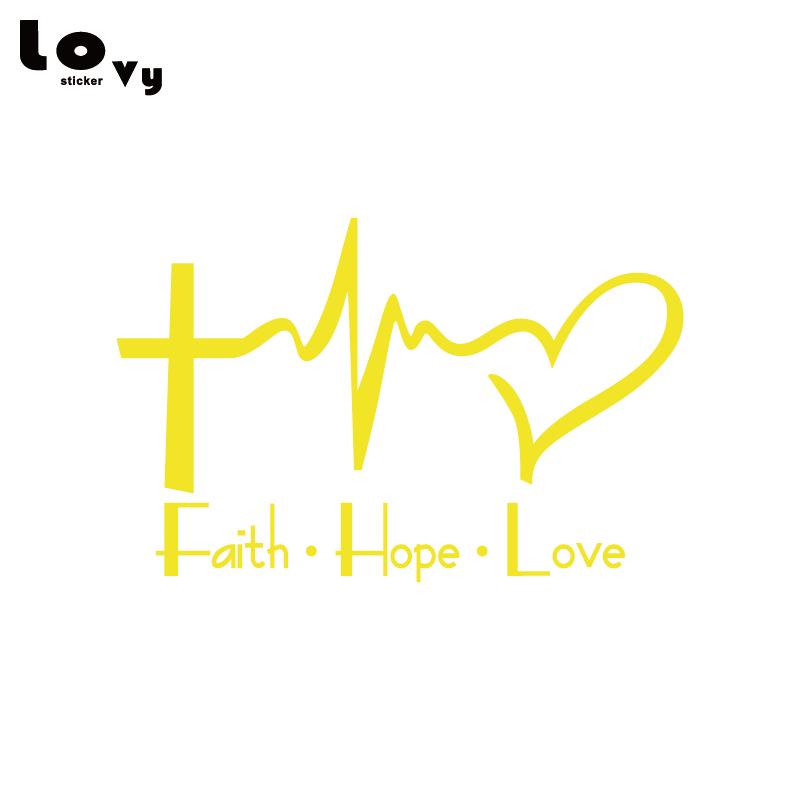 Friendly Faith Hope Love Vinyl Car Sticker Cartoon Jesus Christian Religious Bible Verse For Car Window Body Decoration Ca0763 Car Stickers