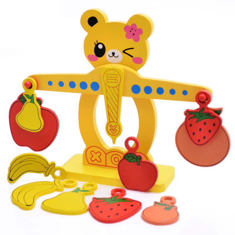 Bear Numbers Balance Game Educational Toy Learning Math Kids Wooden Toys