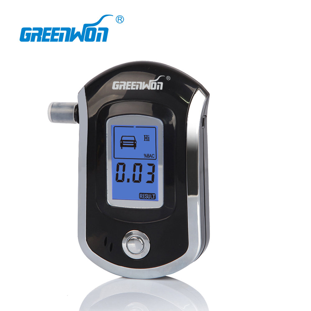 Kebidumei Pft-65s Lcd Breathalyzer Analyzer Detector Digital Alcohol Breath Tester Red Backlight Lcd Display & 5 Mouthpieces Alcohol Tester