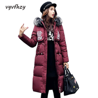 Winter Jacket Women 2017 New Fur Hooded Thickening Parka Long Coats Winter Coat Women Jaqueta Feminina