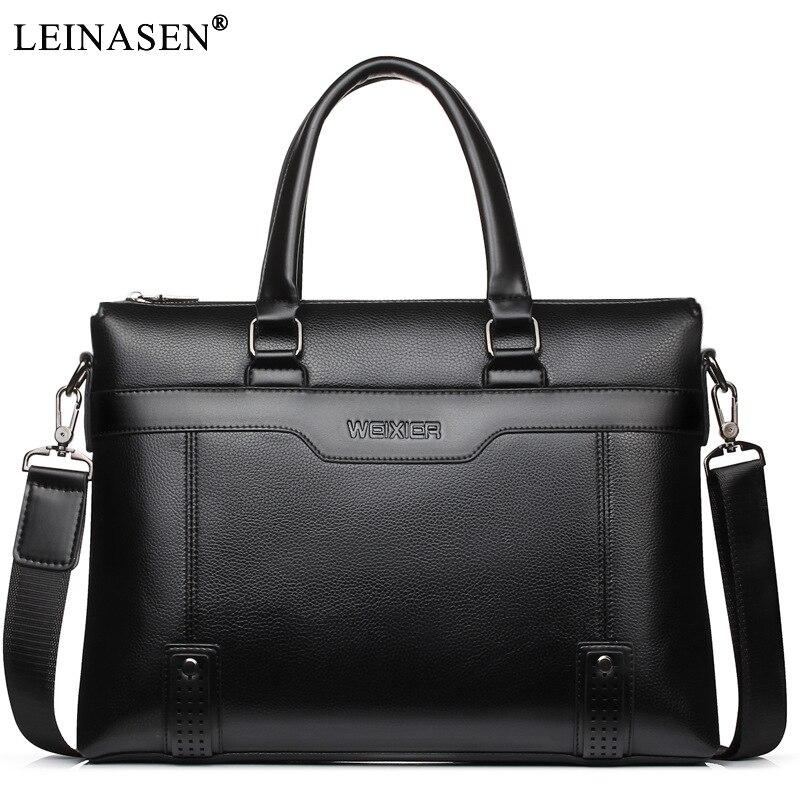 2018 New PU Leather Men handbags Casual s