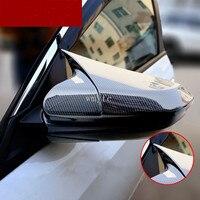 Carbon faser stil schutz der horn form rückspiegel abdeckung auto zubehör Für Honda Civic 10th gen 2016 2017 2018|Spiegel & Abdeckungen|Kraftfahrzeuge und Motorräder -